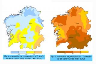 El pasado marzo fue de los más secos en Galicia en los últimos 40 años