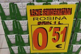 Gadis usa la leche como reclamo con una oferta a 51 céntimos litro
