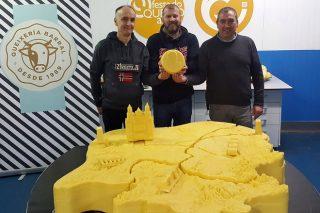 Fin de semana para quesear en Arzúa: 70 expositores, conciertos y un queso gigante con el mapa de Galicia