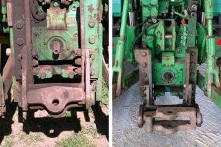 Dos enganches iguales en dos tractores idénticos, uno pasa la ITV, otro no