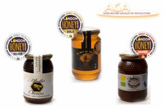 Mieles gallegas galardonadas en el London International Honey Awards 2020
