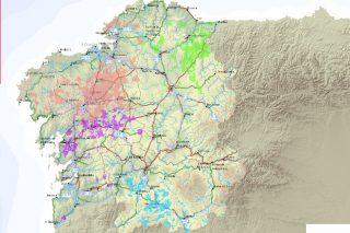 Publicado el mapa de las concentraciones parcelarias realizadas en Galicia